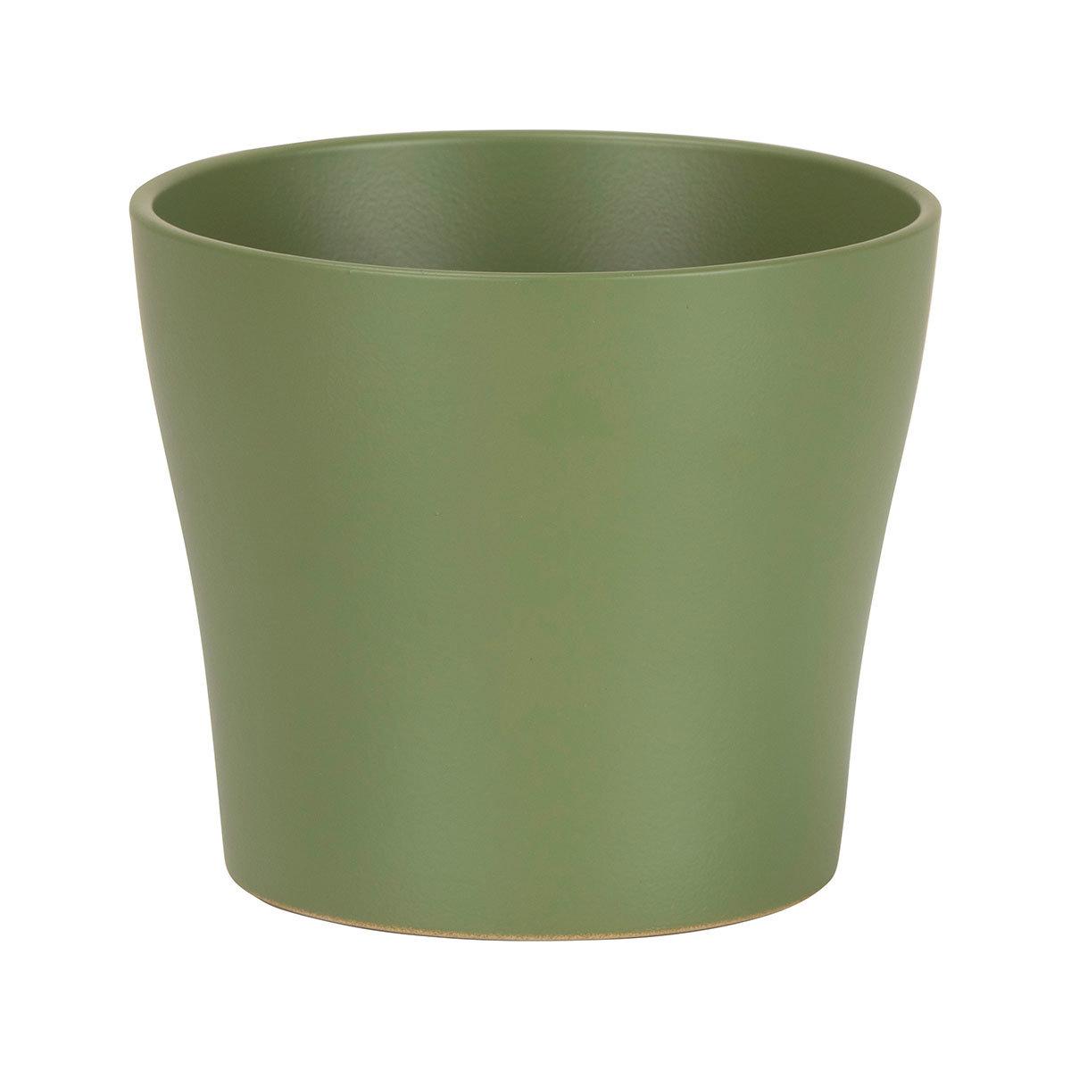 Übertopf Oliva, 13 cm, Grün