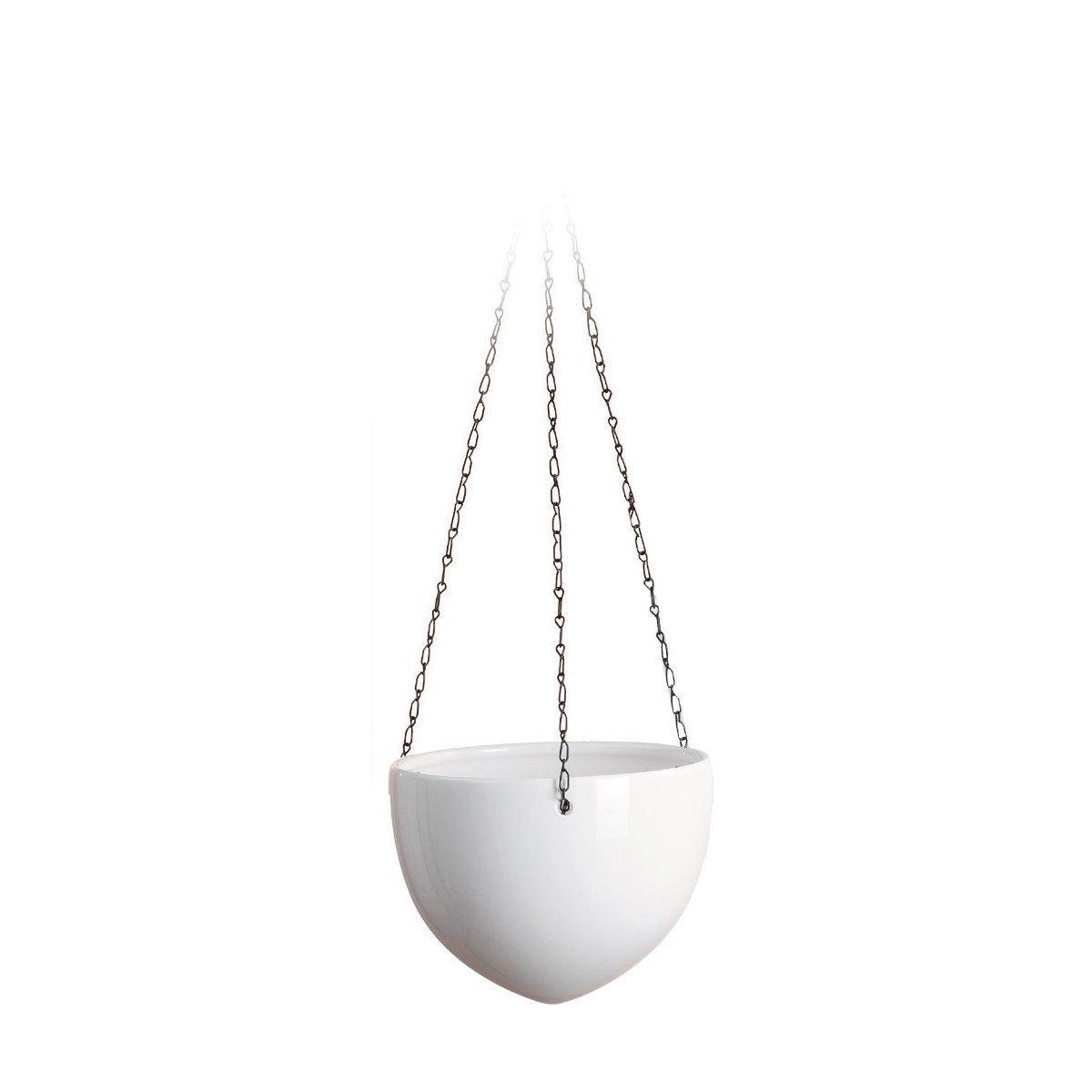 Hängeampel Alaska, 18 cm, Weiß
