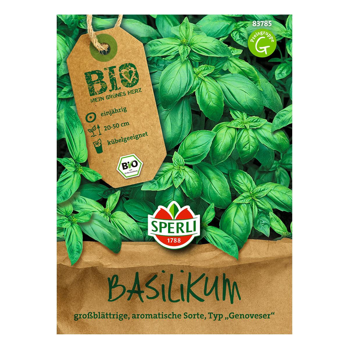 BIO Basilikumsamen Großer Grüner Genoveser