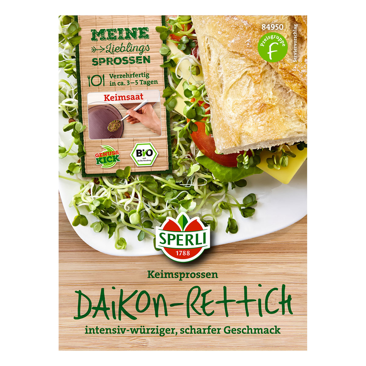 BIO Keimsprossen Daikon-Rettich