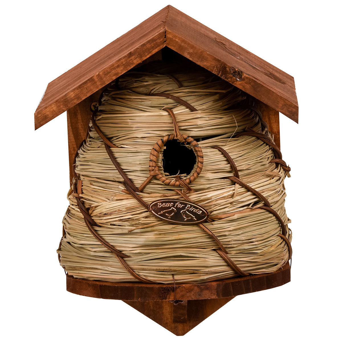 Nistkasten im Bienenkorbdesign, Kiefernholz, ca. 19 x 20 x 25 cm