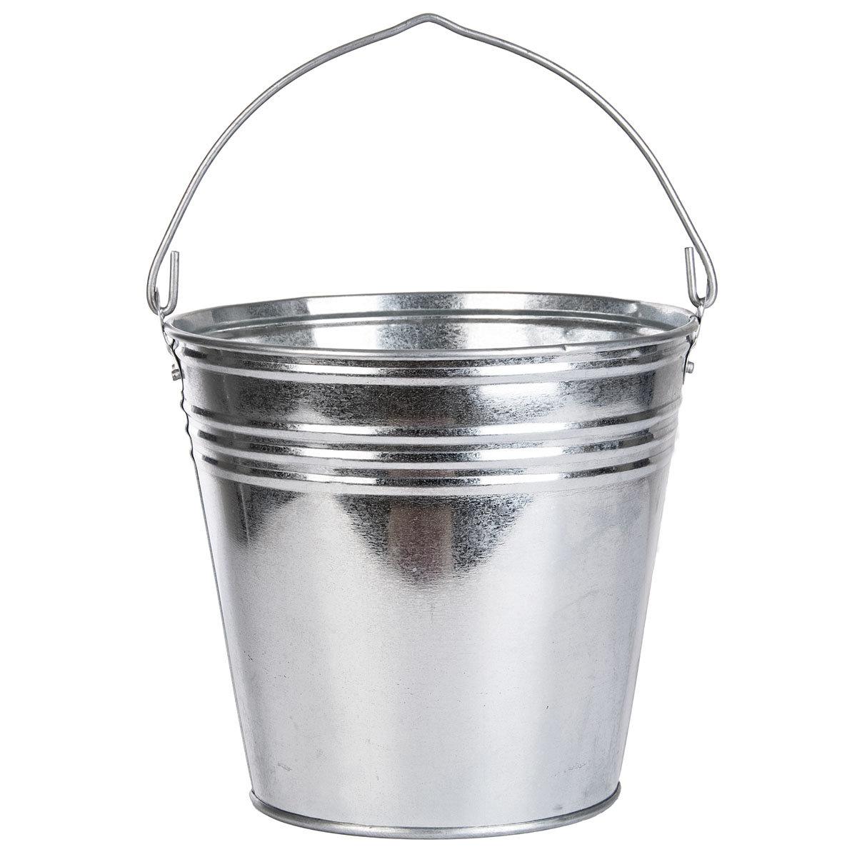 Zinkeimer mit Henkel, ca. 9 Liter