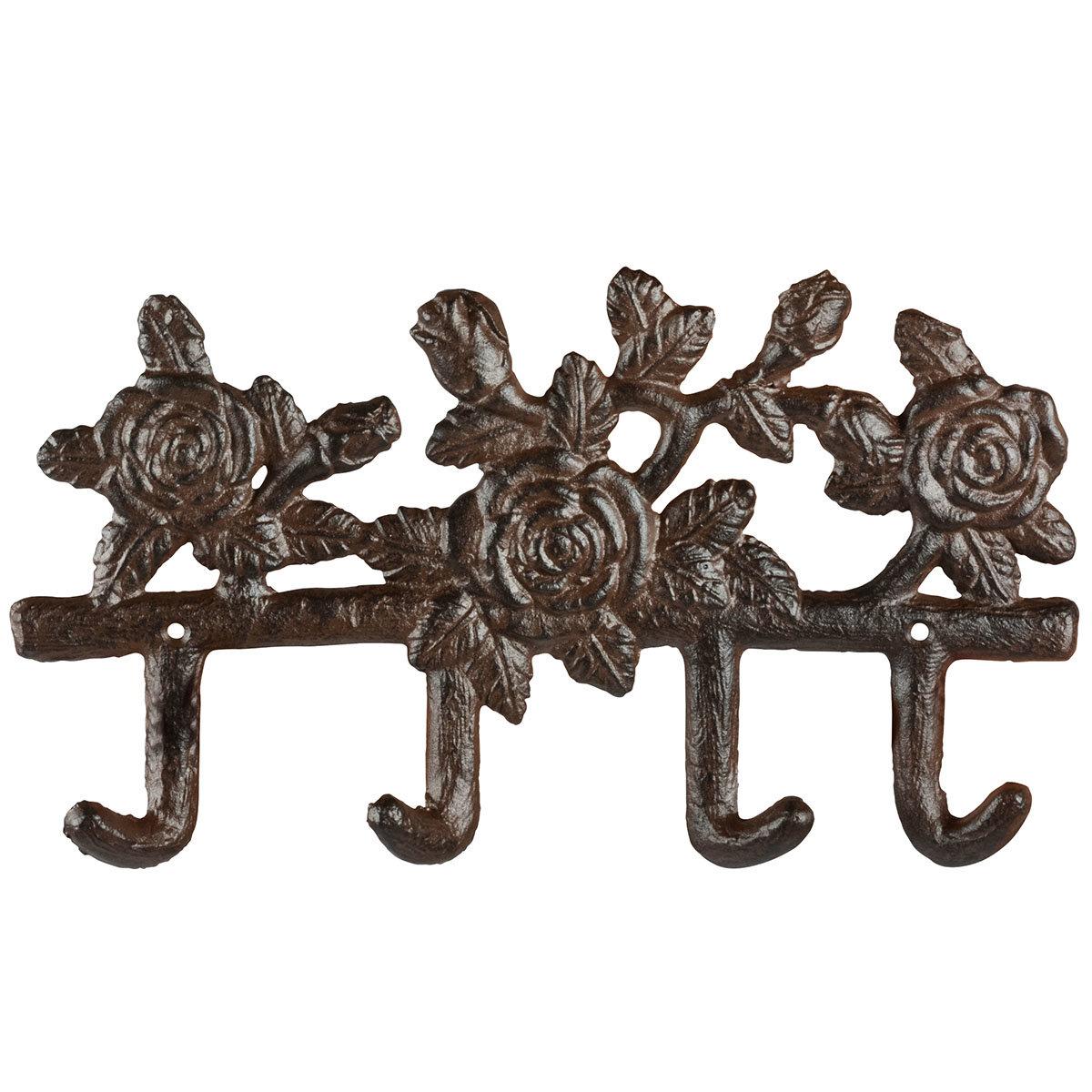 Werkzeughaken Rose, gusseisen, mit 4 Haken, ca. 27 cm