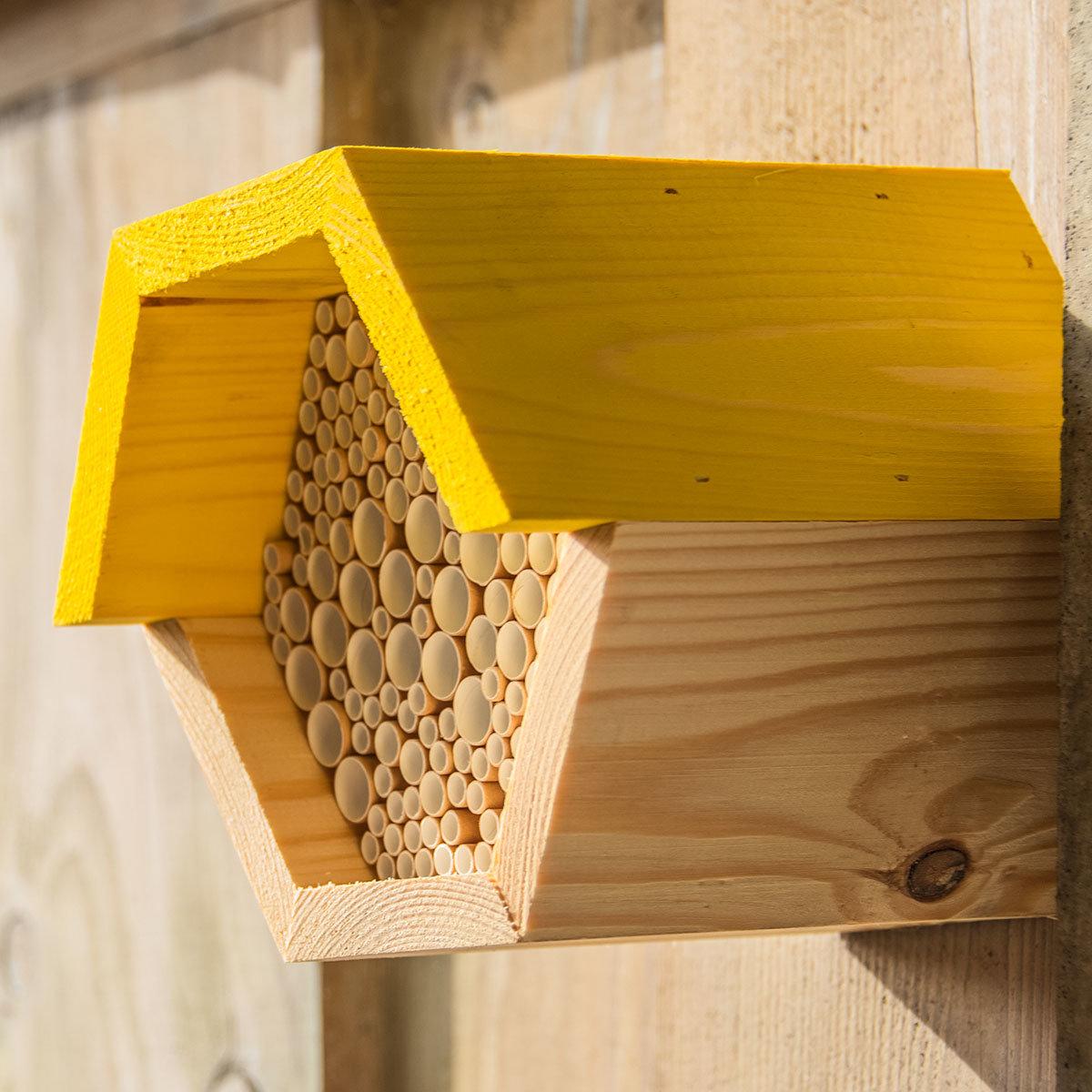 Bienenhaus, sechseckig, gelb