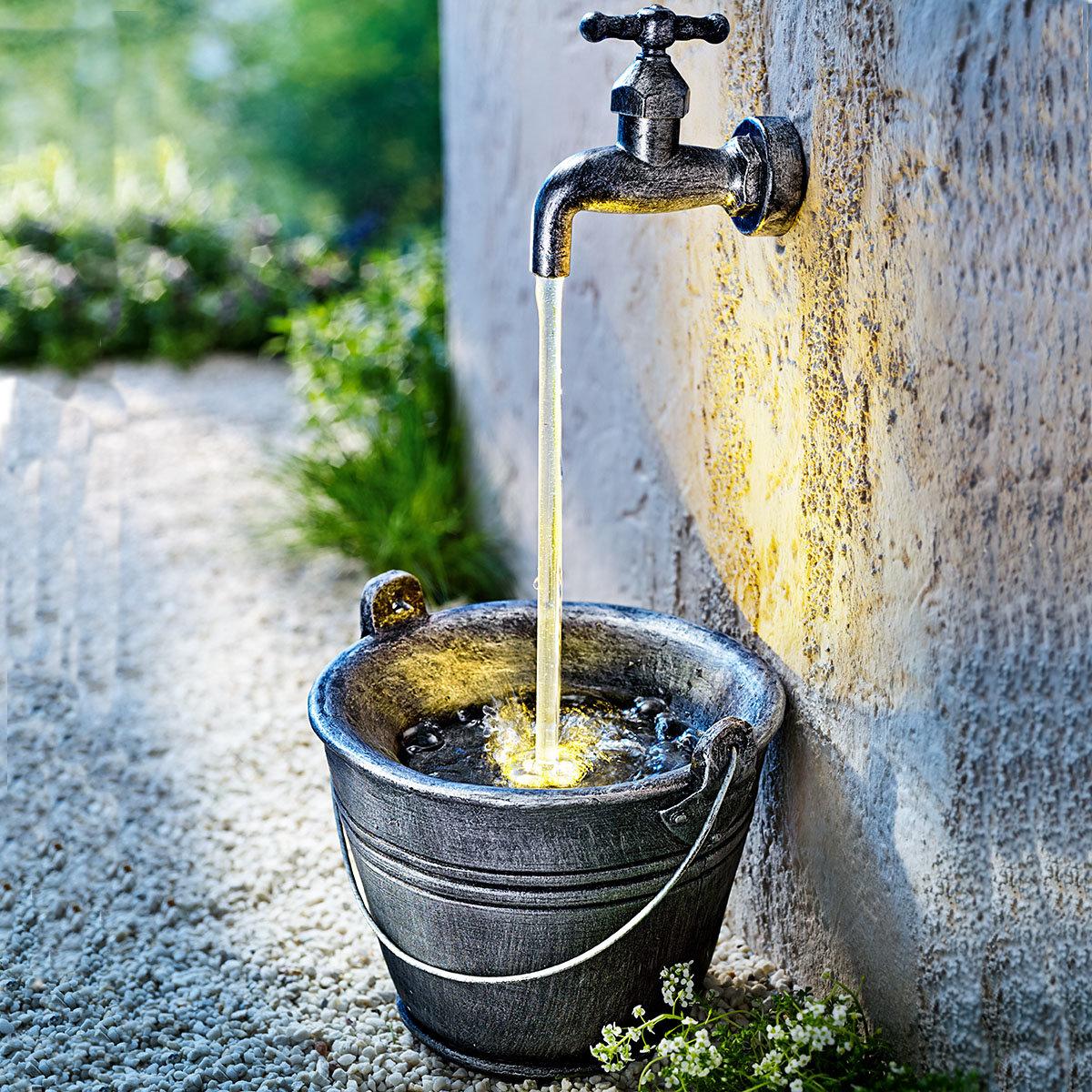 "LED-Gartenbrunnen ""Wasserhahn"""