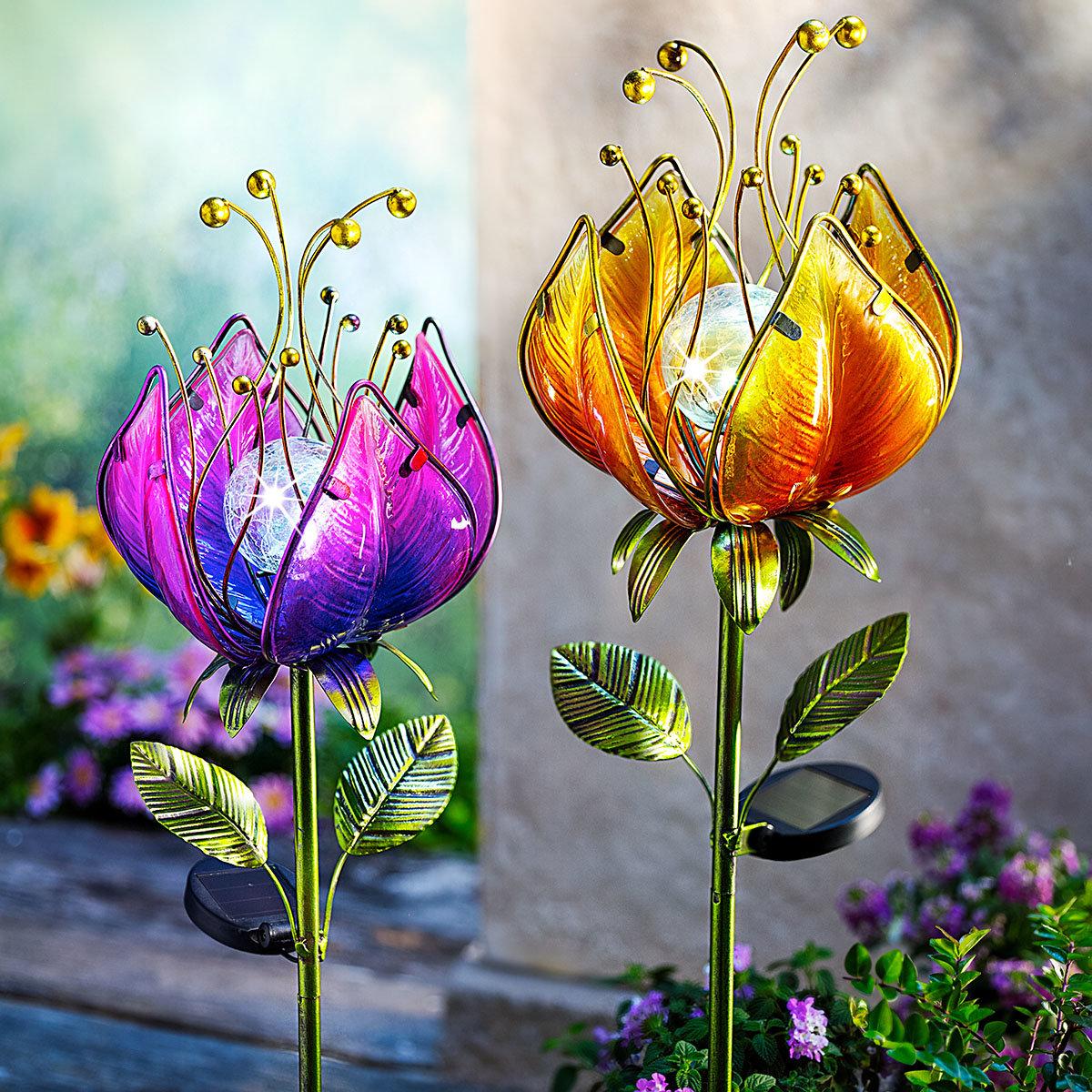 """Solar-Gartenstecker """"Traumblüte"""", 2er-Set"""