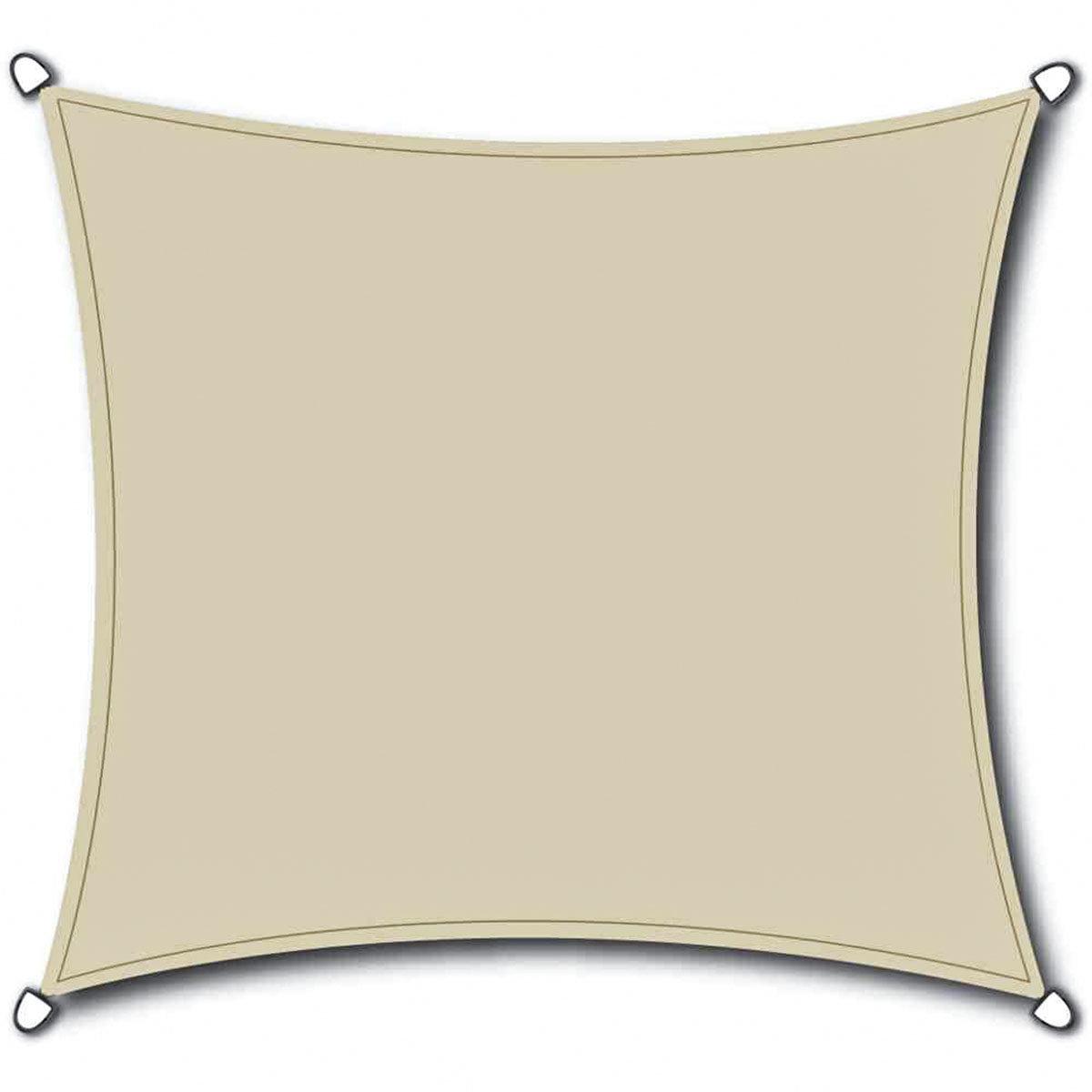 Sonnensegel Solino 3,6 m quadratisch, weiß