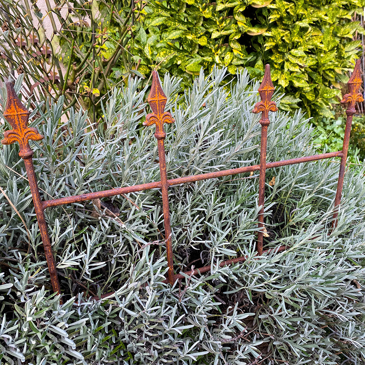 Gartenzaun Royal, Edelrost, ca. 49 cm