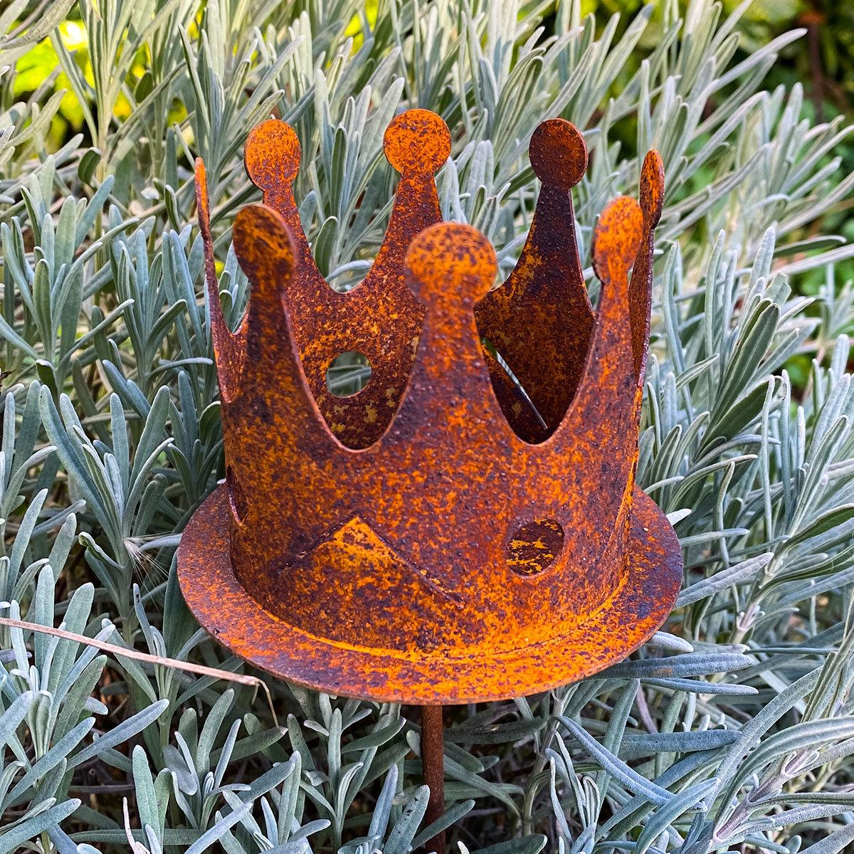 Gartenstecker Krone Sissi, Edelrost