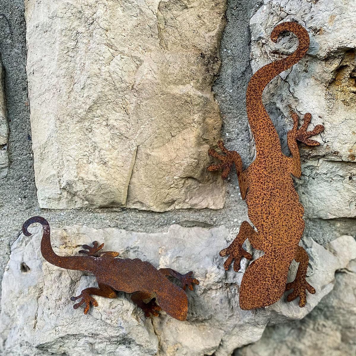 Tierfigur Salamanderpärchen, Edelrost