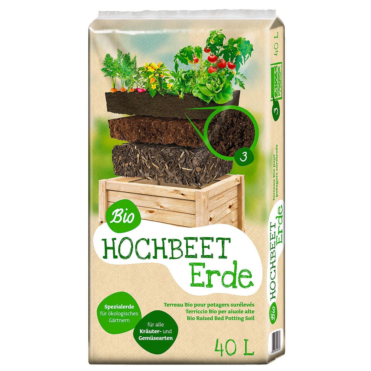 Bio Hochbeeterde, 40 Liter