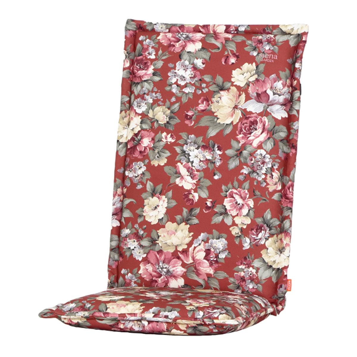 Hochlehner-Auflage Lissa, Blume-terrakotta
