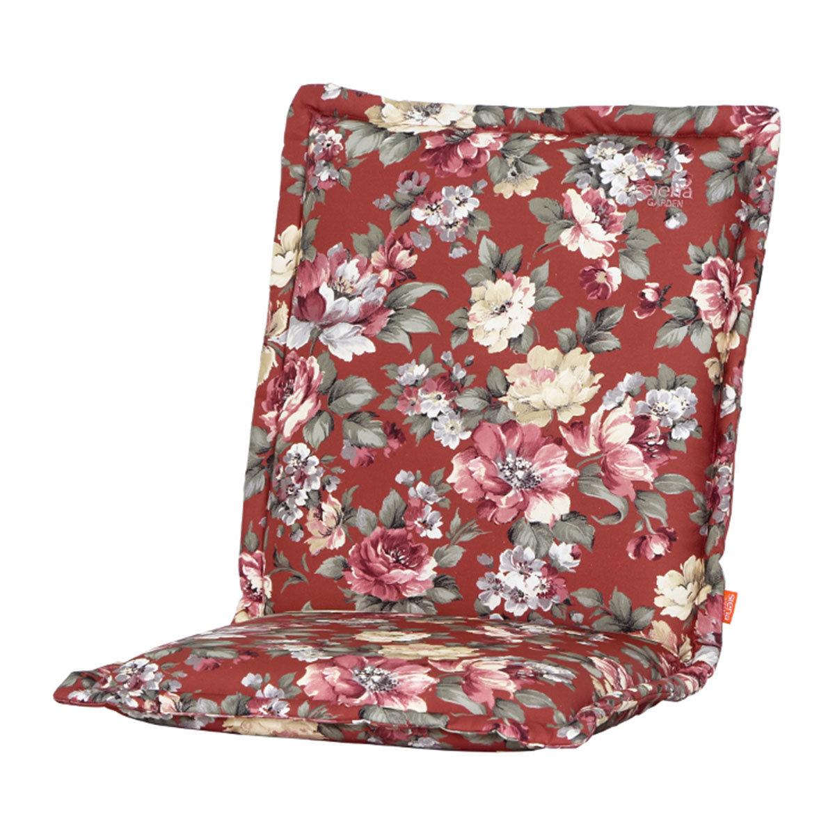 Sessel-Auflage Lissa, Blume-terrakotta