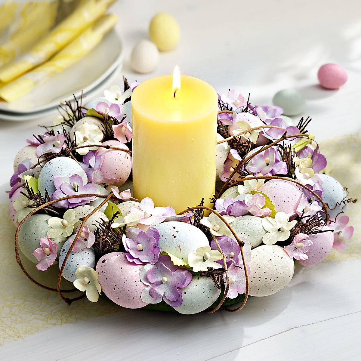 Türkranz romantische Ostern,  ca. 30 cm