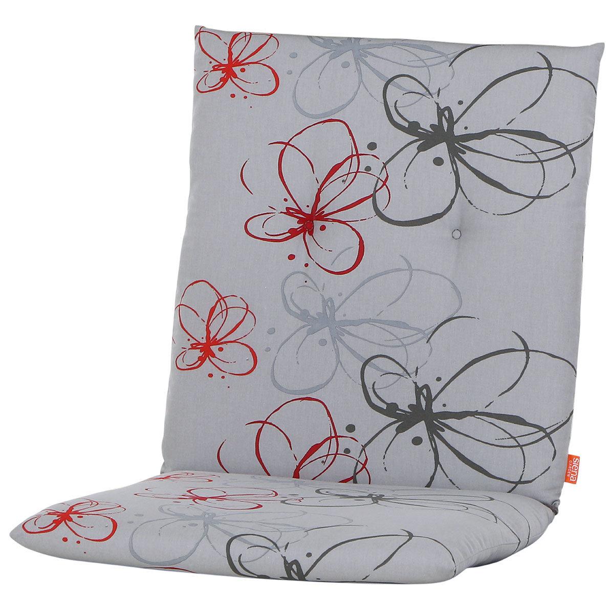 Sessel-Auflage Mika, rote Blume