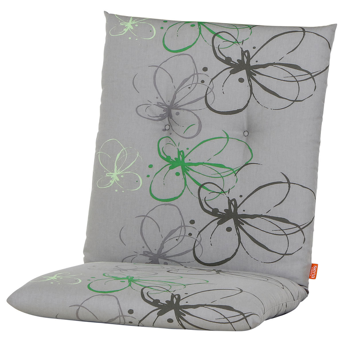 Sessel-Auflage Gabi, grüne Blume