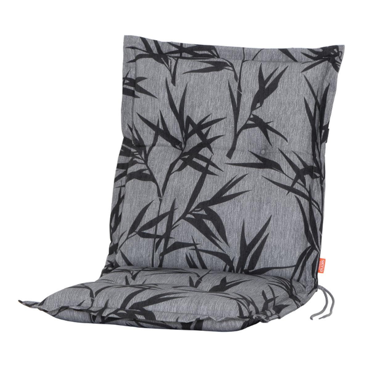 Sessel-Auflage Bambus, grau