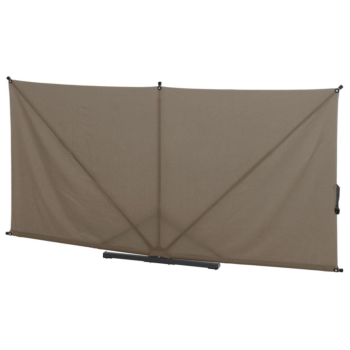 Sichtschutz Ben Blickdicht, 150x250 cm, taupe