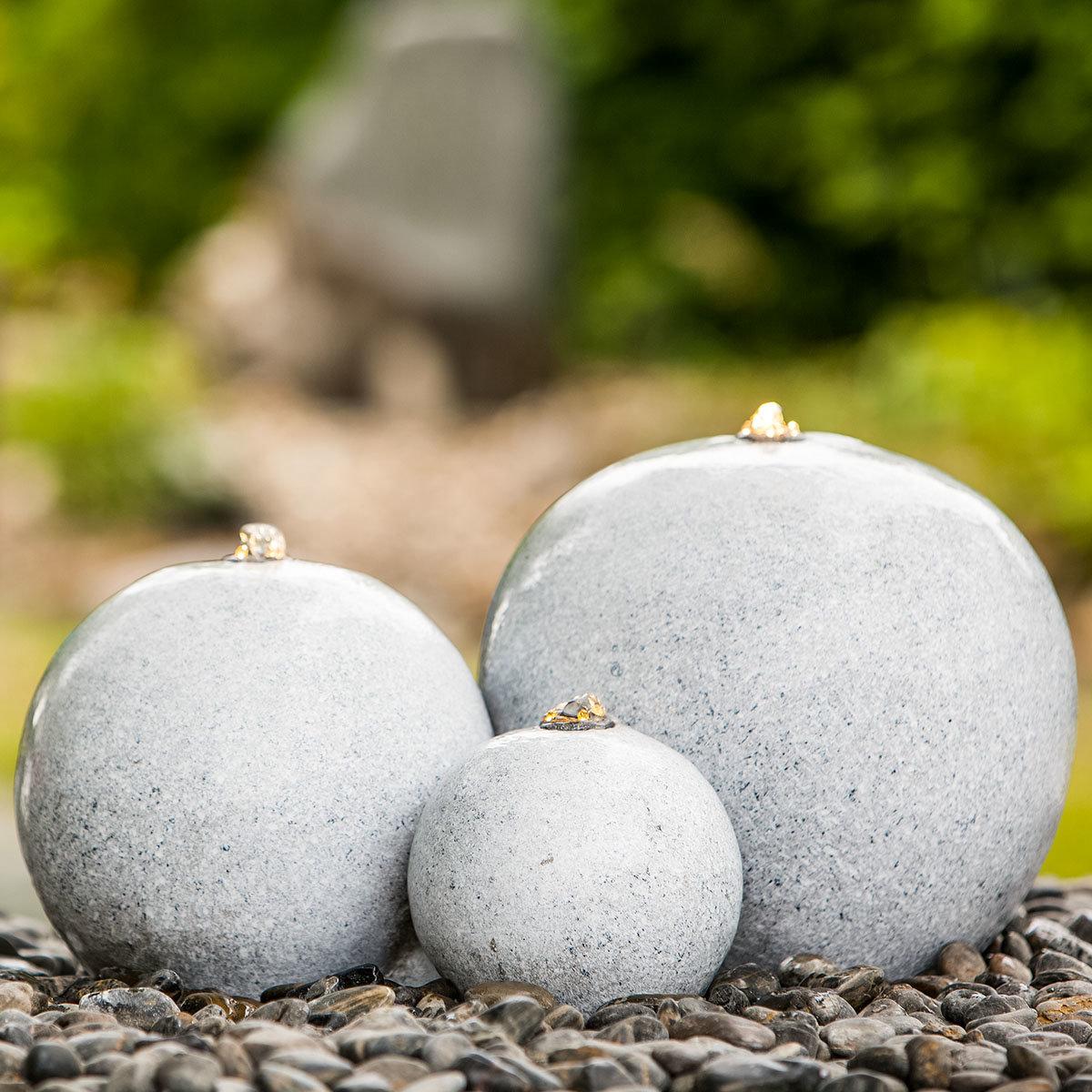 Brunnen-Set Saphira LED granit