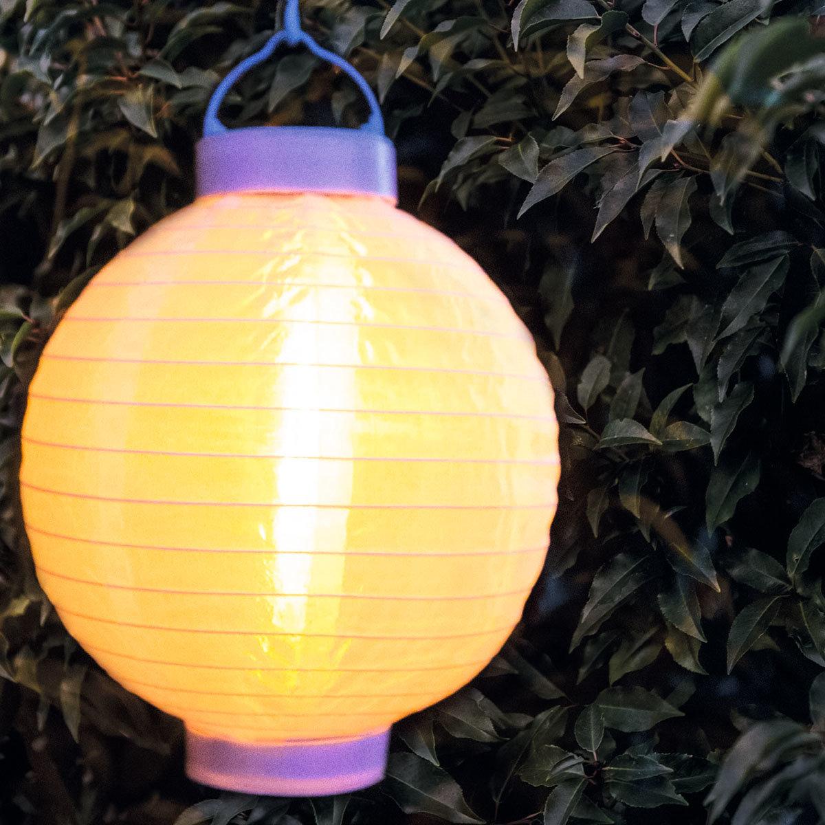 LED Solar Lampion, weiss