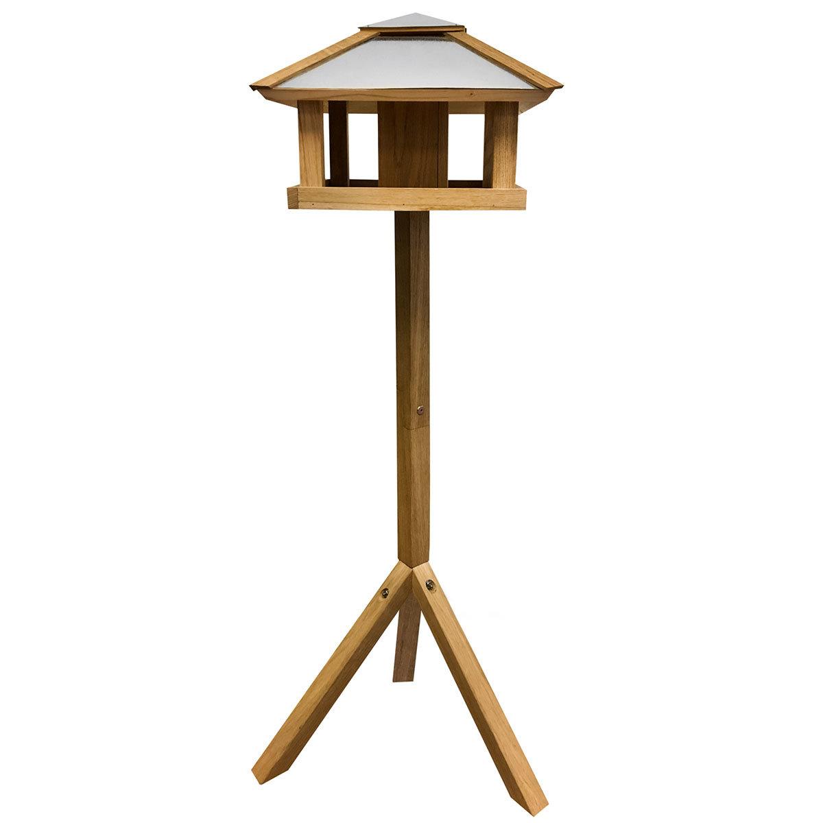 Vogelfutterhaus Henry mit Futtersilo, Stahldach