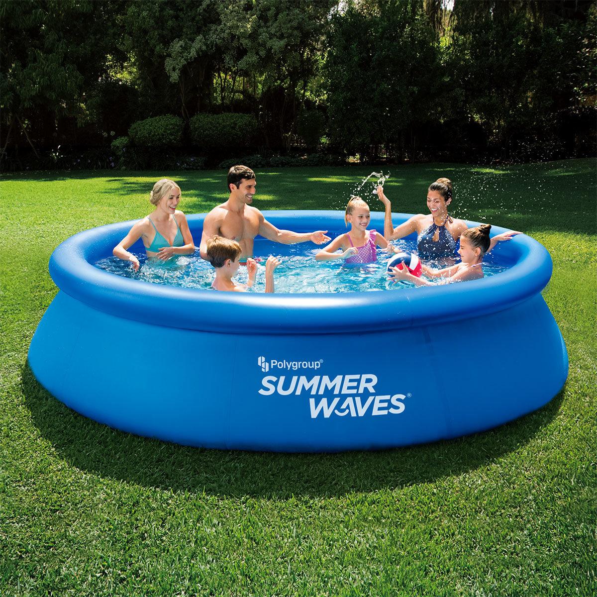 QuickUp-Pool 366 x 76cm mit Filterpumpe, blau