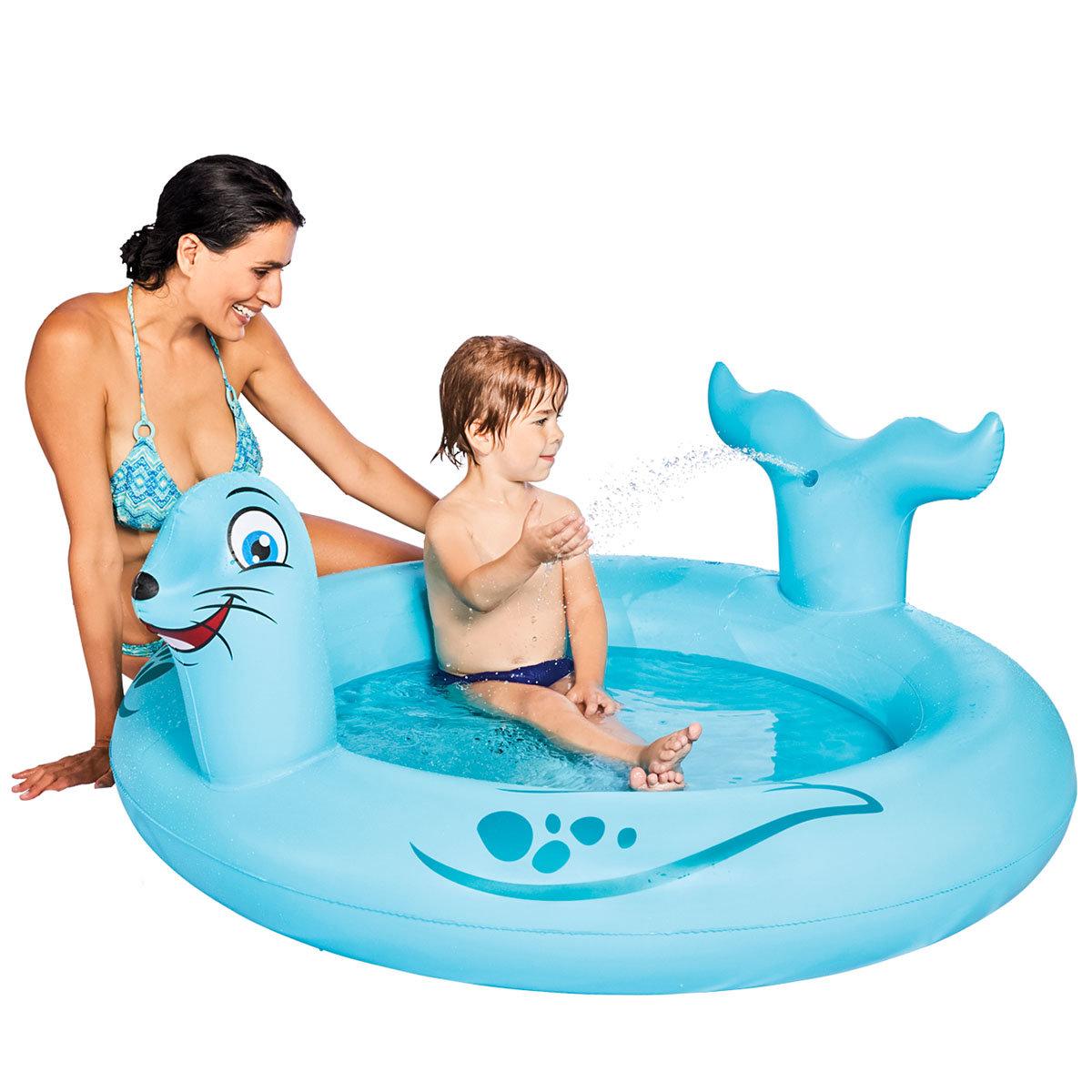 Pool Seelöwe mit Sprühfunktion, 122x18cm