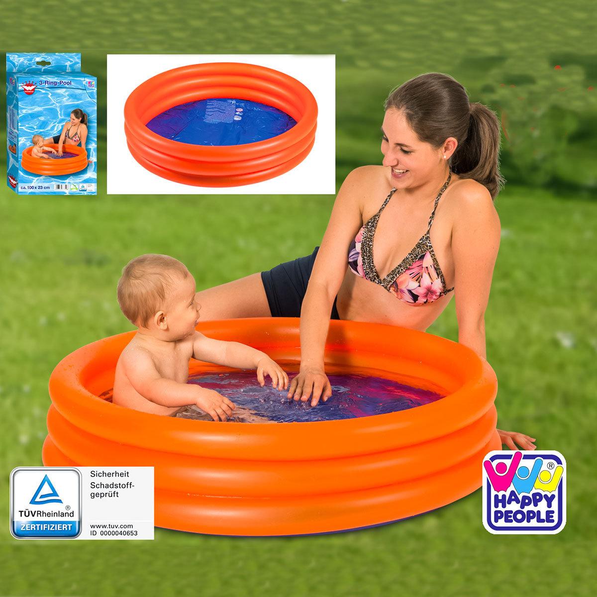 Mini-Pool, 100x100x23cm, orange
