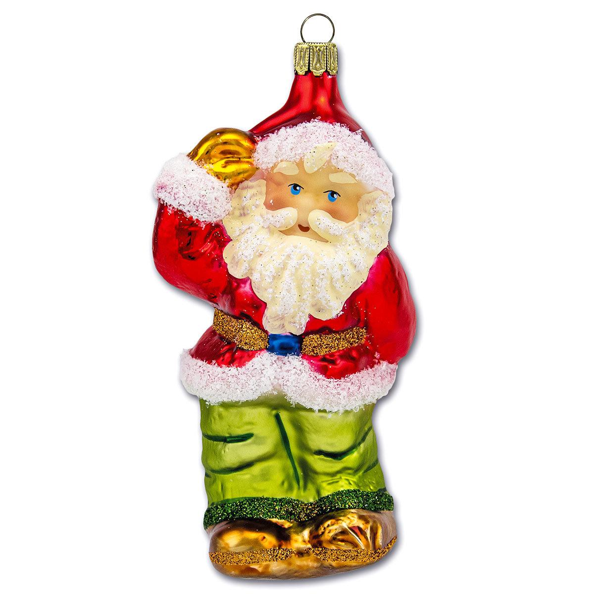Christbaumschmuck - Weihnachtsmann, 11 cm, mundgeblasen