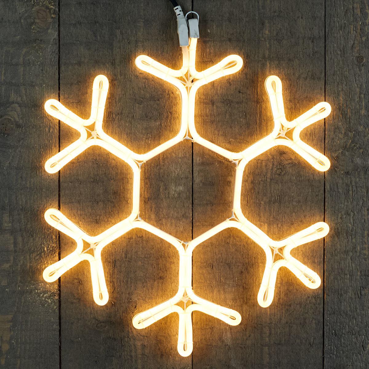 Premium-Neon-LED-Schneeflocke, 51 cm