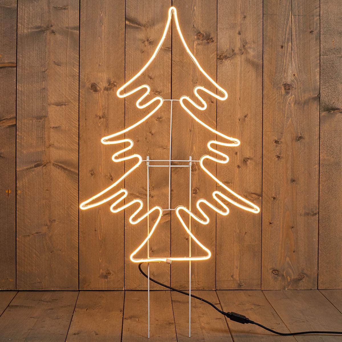 Premium-LED-Gartenstecker Tannenbaum, 82 cm