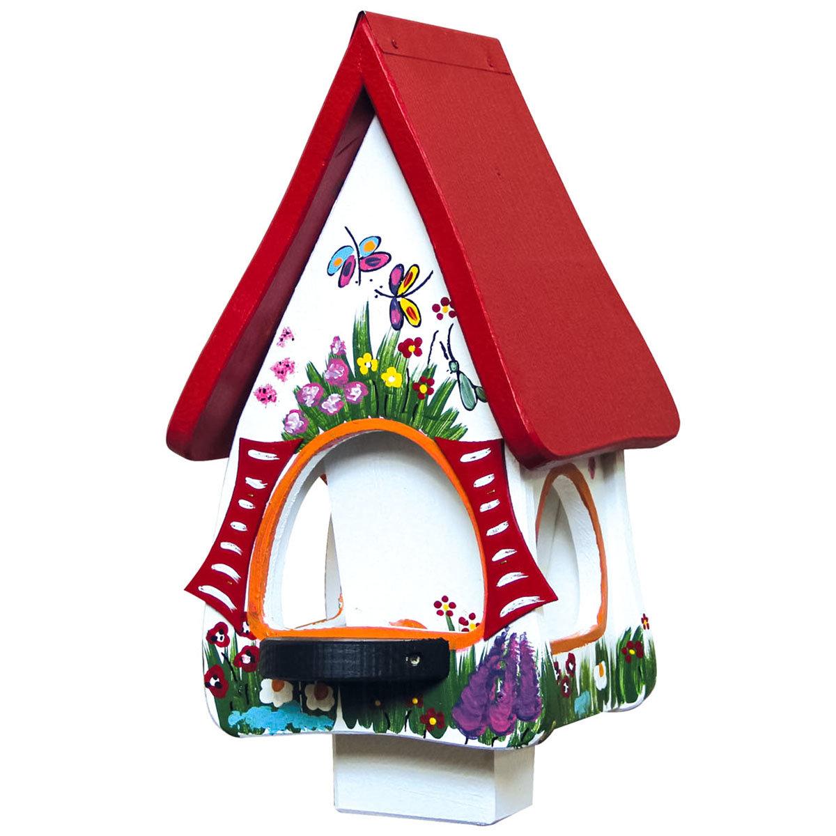 Vogelhaus inkl Silo Gartenzauber, weiß