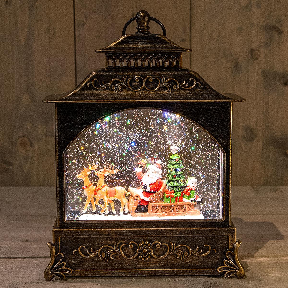 LED-Laterne mit Weihnachtsmann, 22x8x29 cm