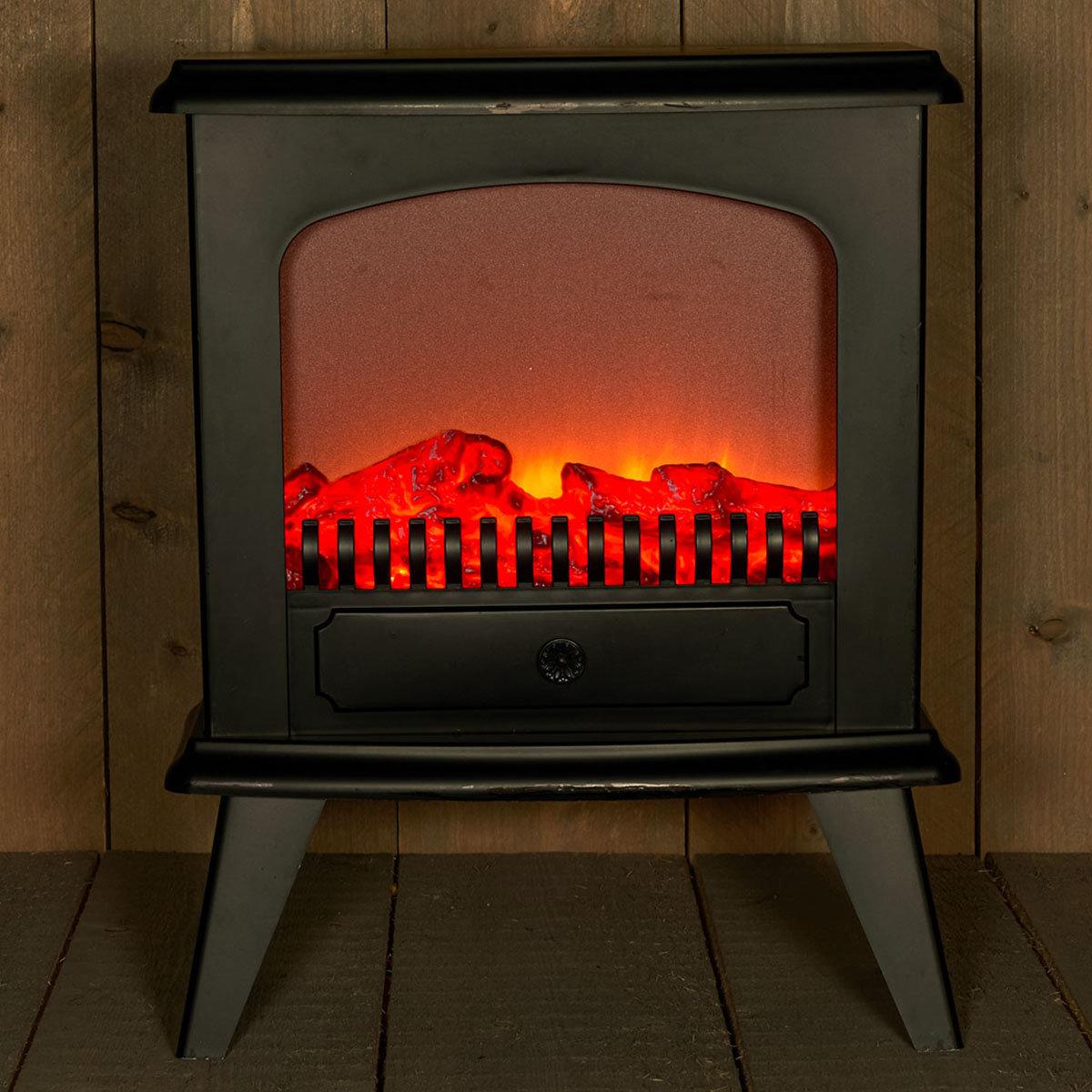 Kamin-Ofen elektrisch, 45 cm x 18,5 cm x 56 cm, schwarz
