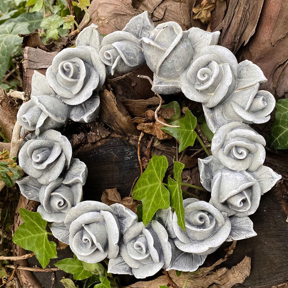Poly-Rosendekokranz, klein, Durchmesser 13 cm