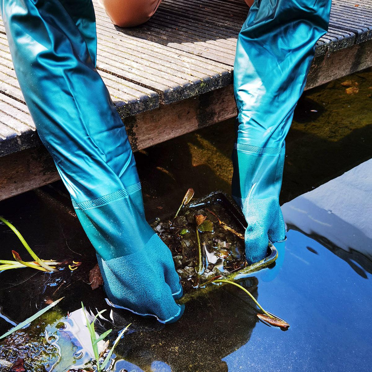 Teich-Handschuhe, wasserdicht, 60 cm