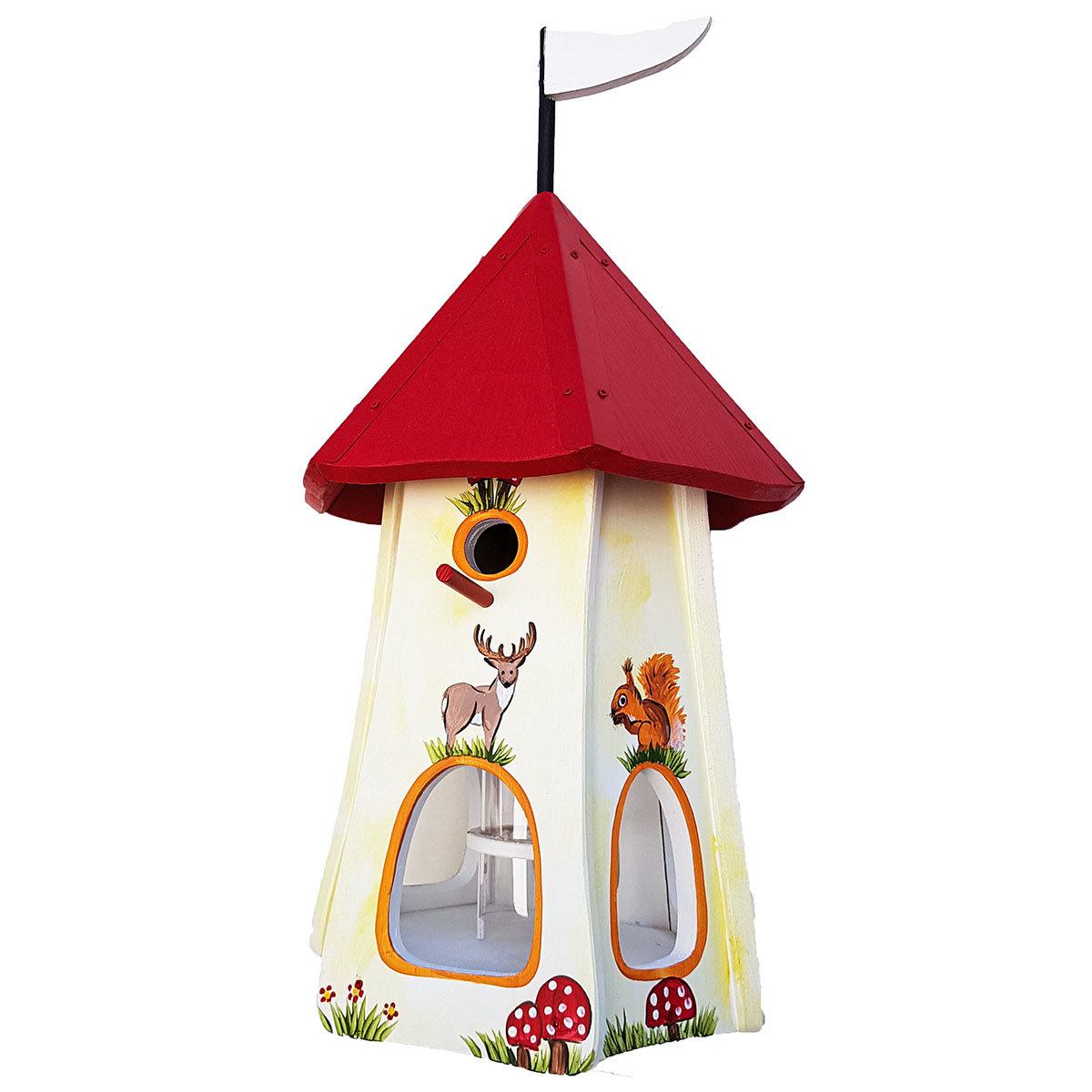 Nistkasten inkl. Vogelhaus Tiere des Waldes