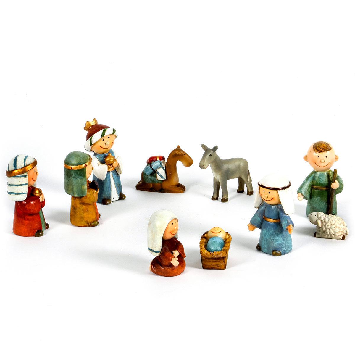 Kinder-Krippenfiguren, 10er-Set