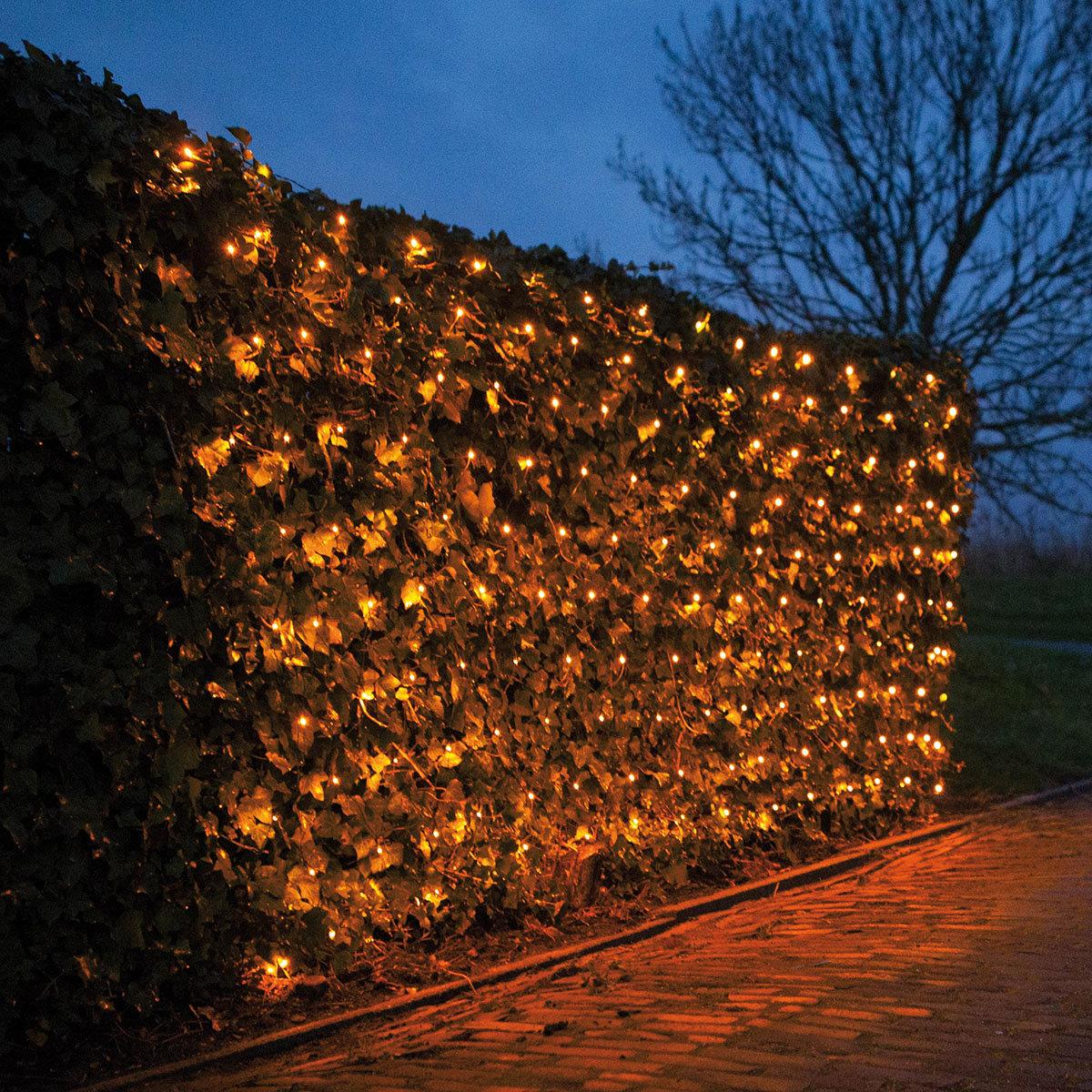LED-Lichternetz, 240 LEDs, 200x200 cm, weiß