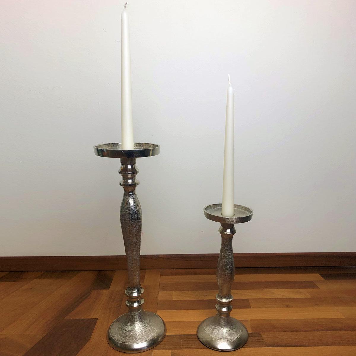 Kerzenleuchter, 10x10x25 cm, silber