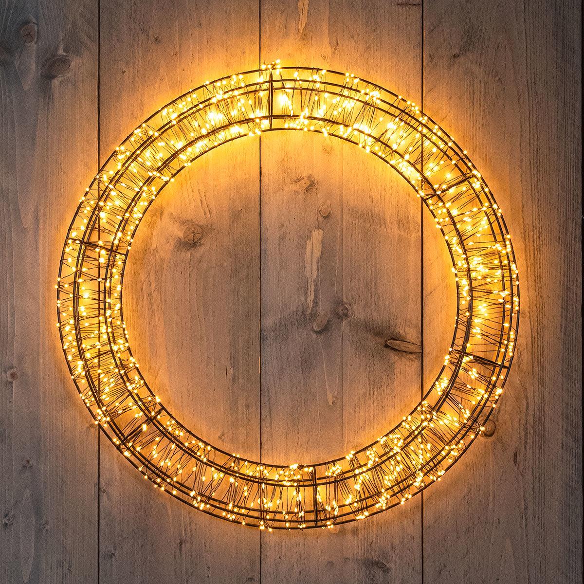 LED-Leuchtkranz, 1.200 LEDs, 56x6 cm, dimmbar