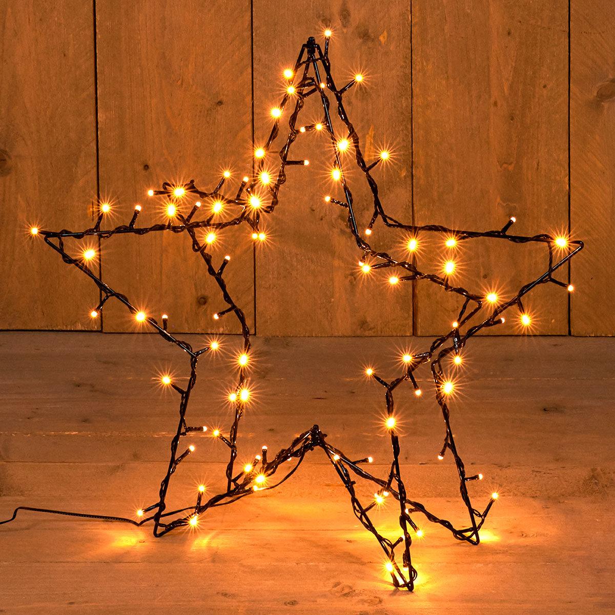 3D Stern mit LED-Beleuchtung, 90 LEDs, 57 cm