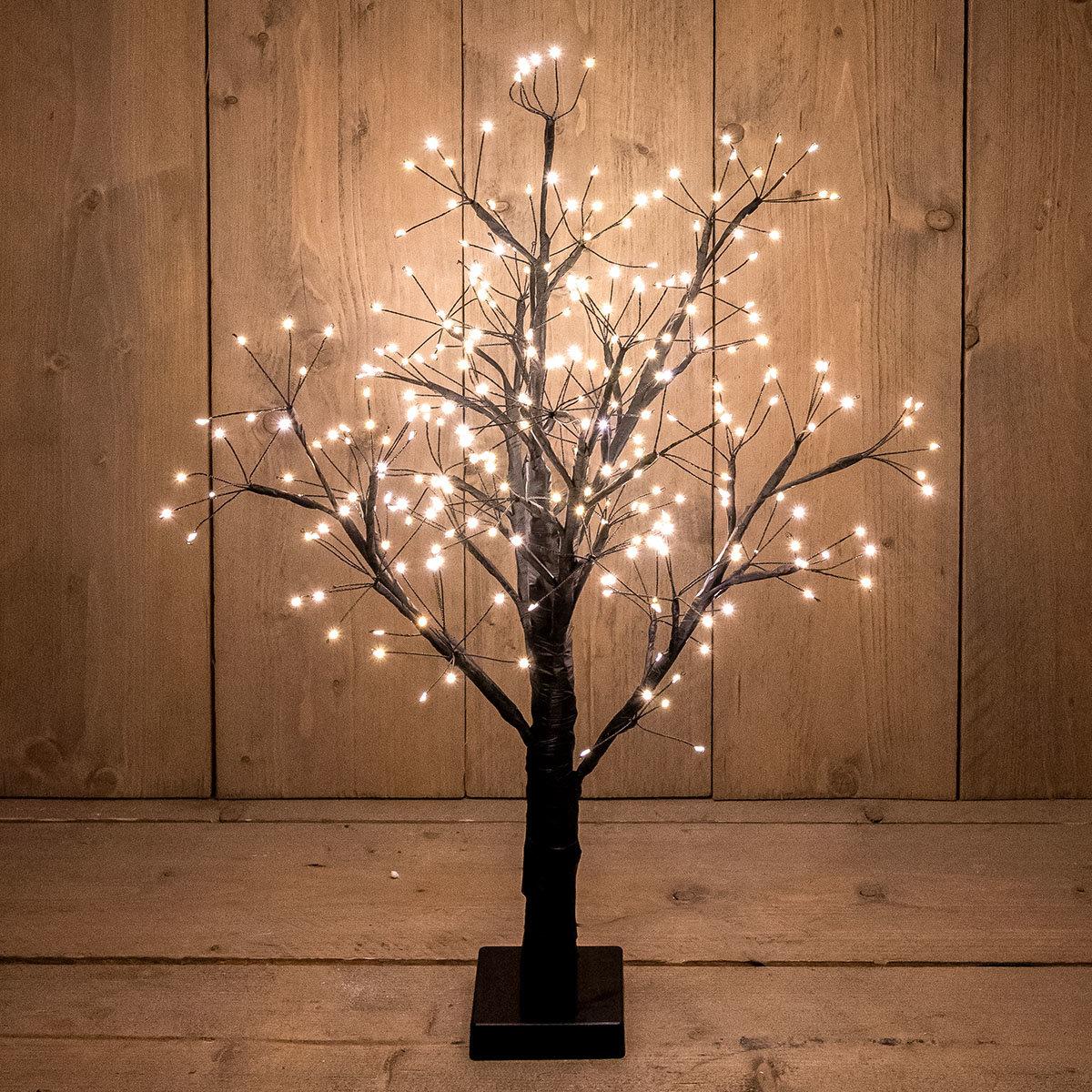 LED-Dekobaum Eiche, 230 LEDs, 60 cm, schwarz