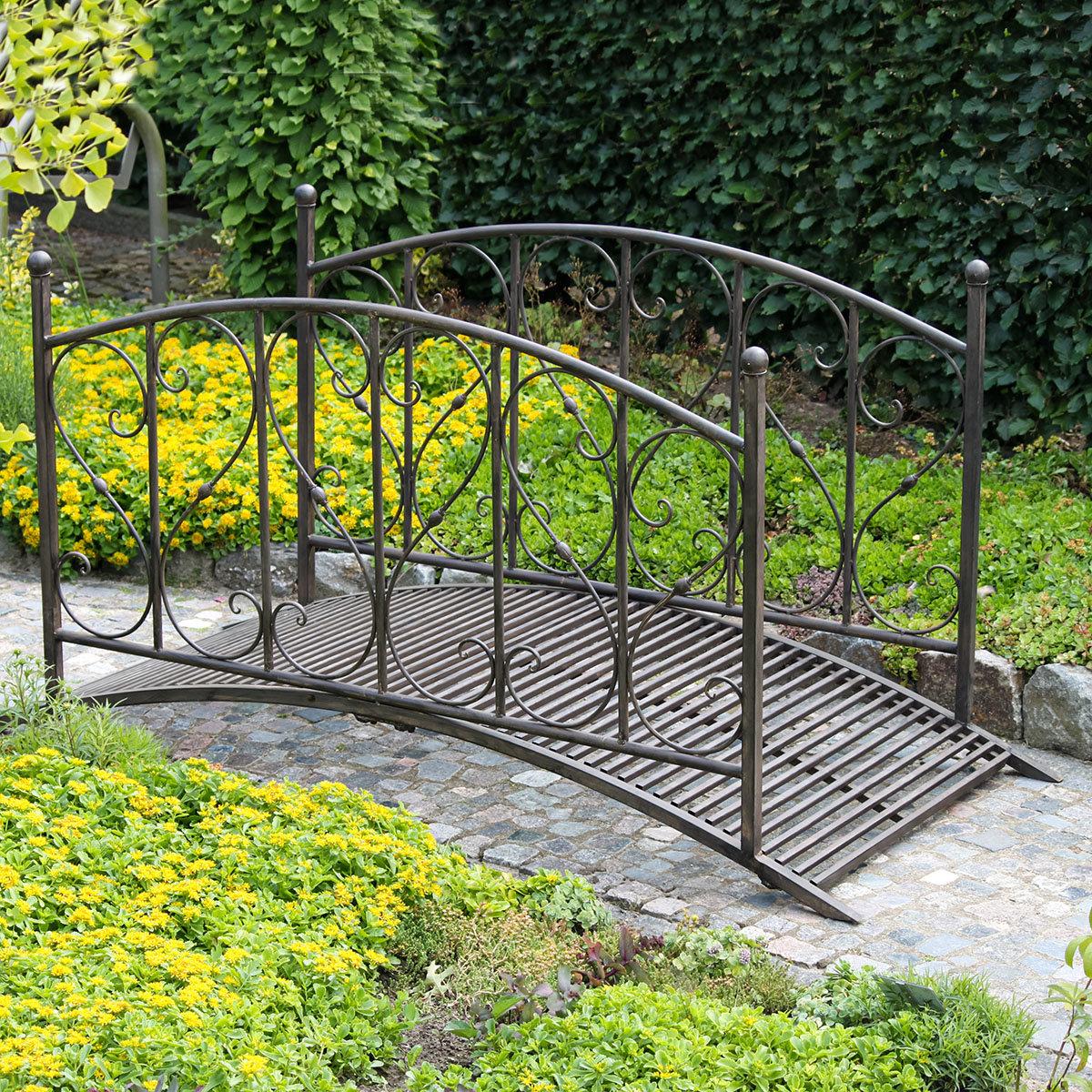 Gartenbrücke DUKONO, mit Geländer