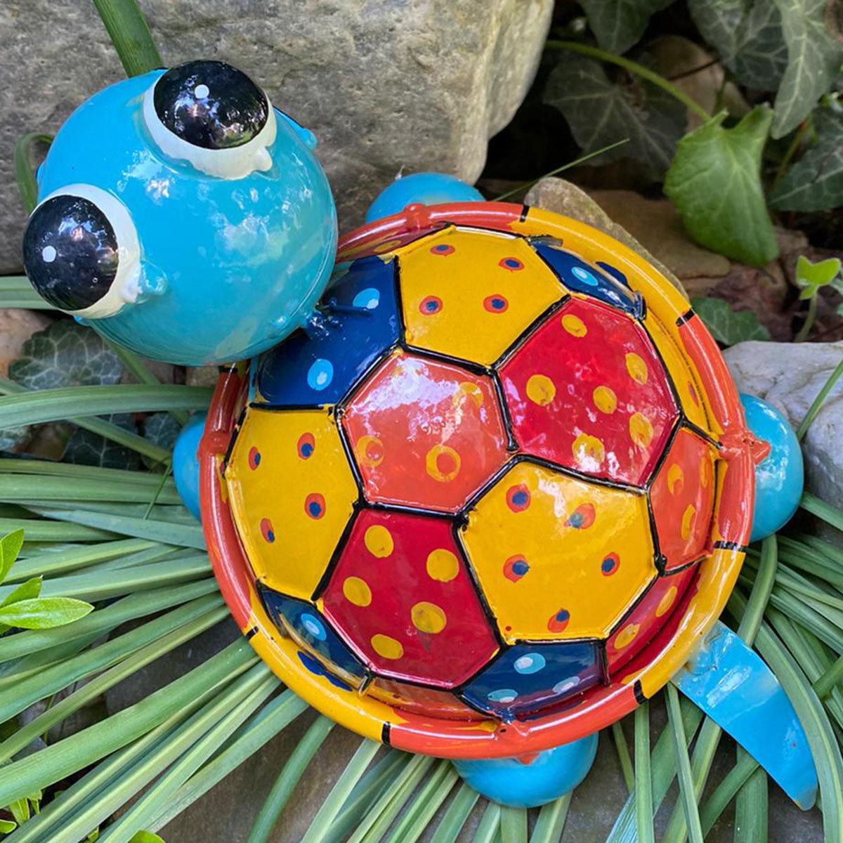 Schildkröte Turga, blau, bunt