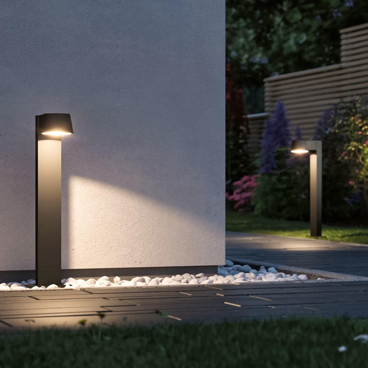 LED Outdoor Pollerleuchte Capea, 3000K 6W 230V IP44,  Alu, schwarz