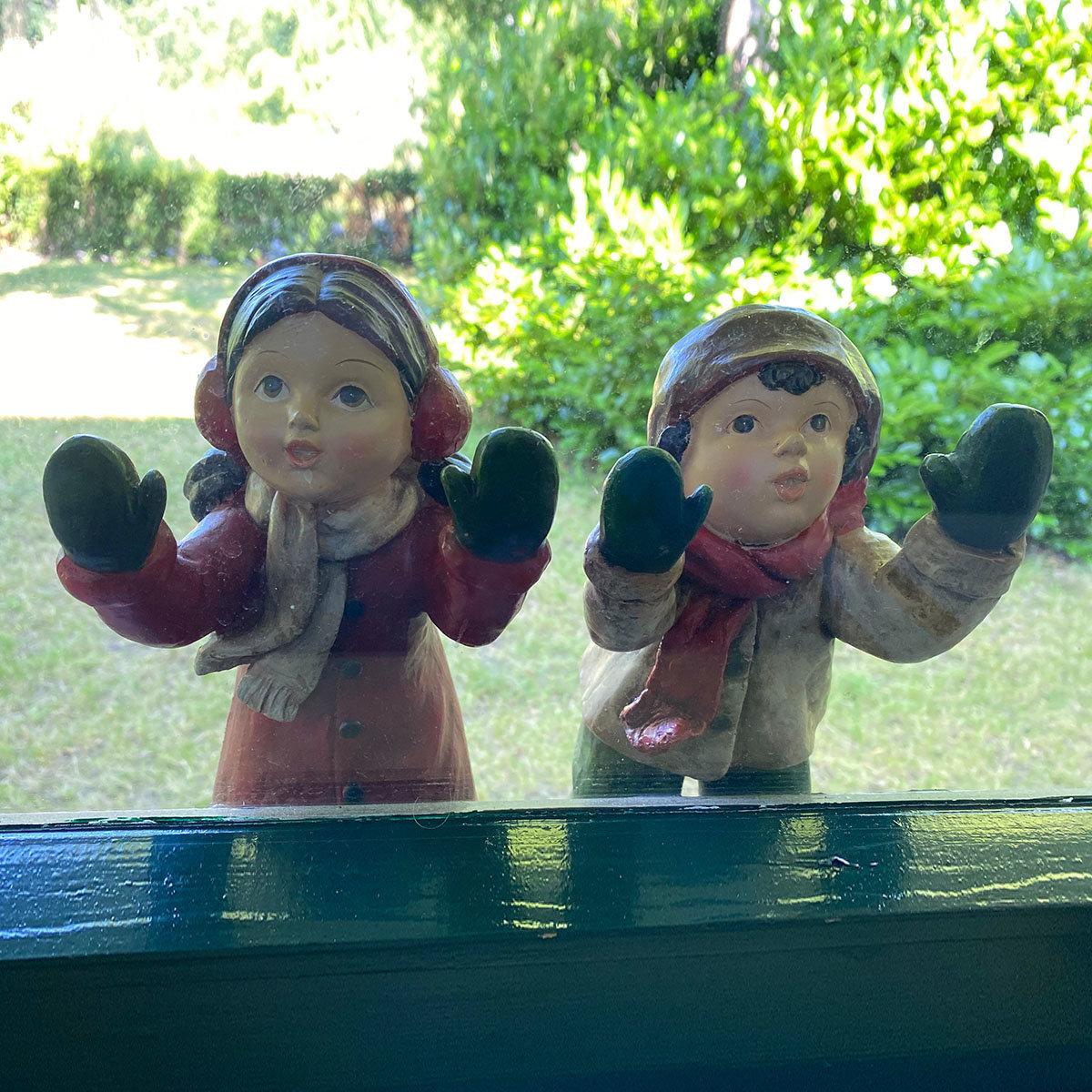 Fenstergucker Winterkinder, 2er Set, groß
