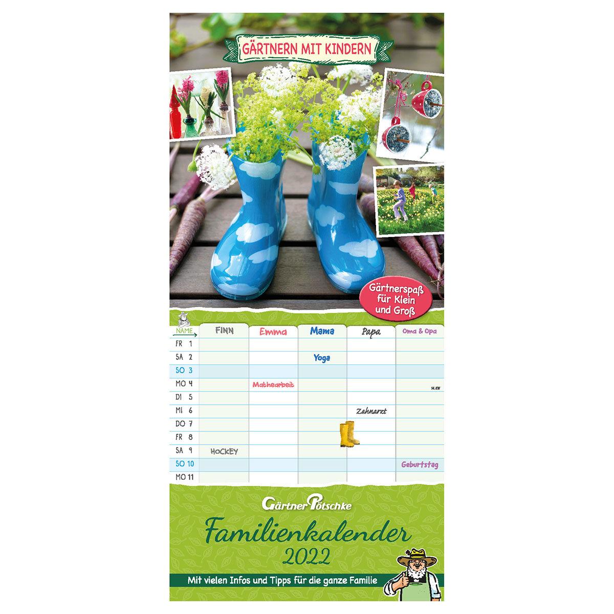 """Familienplaner-Kalender """"Gärtnern mit Kindern"""""""