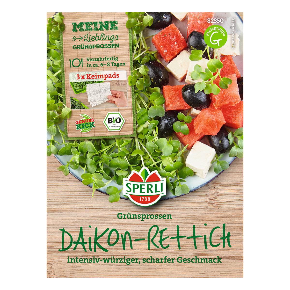MicroGreen Nachfüllpad BIO Daikon-Rettich-Grünsprossen
