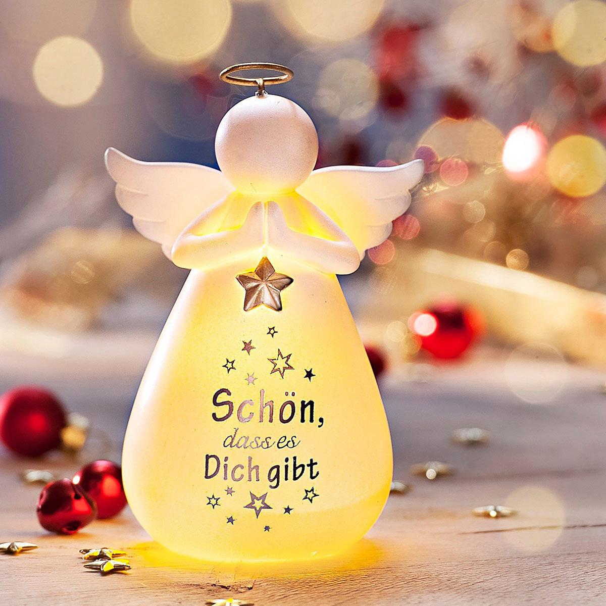 LED-Engel mit Spruch